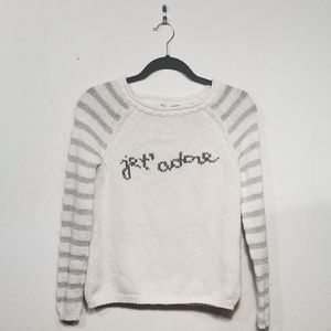 "{Anthropologie} Moth ""je t'adore"" Sweater"